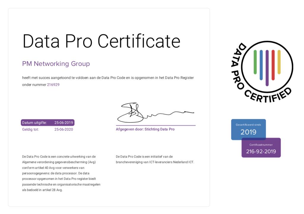 Data Pro certified